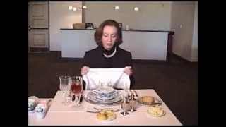 Afternoon Tea-Fine Dining Etiquette Napkins, Utensils and Meals