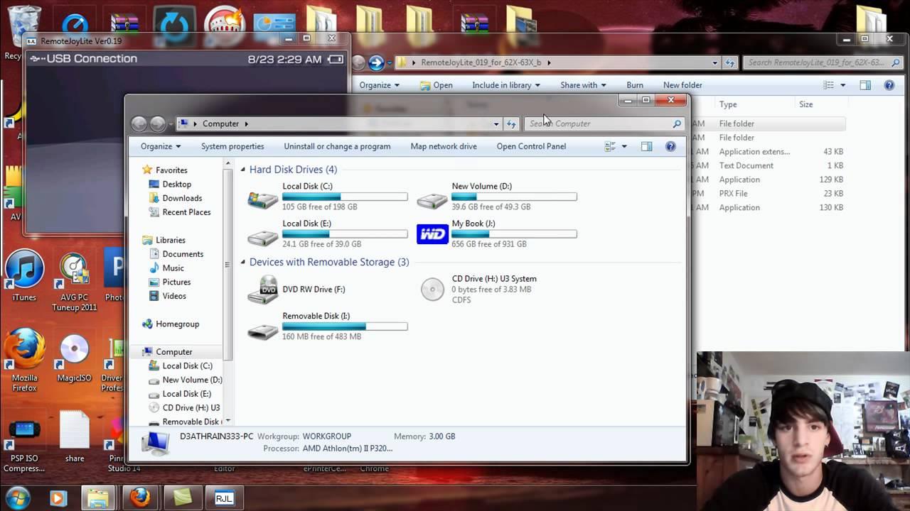 Remotejoy lite lockup (psp-1000, 6. 20 pro-b10 fix 1) wololo. Net/talk.