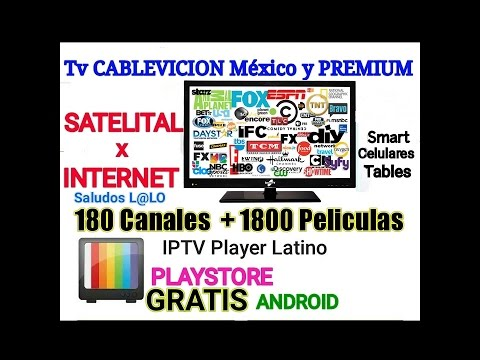 Tv Cable Mexico Gratis Satelital y contraseña 100% IPtv Player Latino (ANDROID)