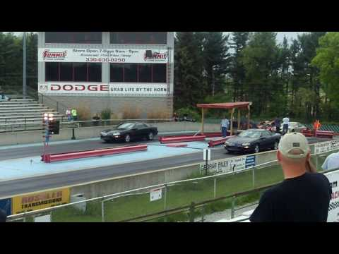 A Couple Of Fourth Generation LS1 Camaro Z28s Drag Racing