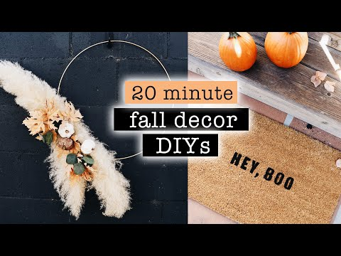 DIY FALL DECOR in 20 minutes or less 🍂 (easy & quick)