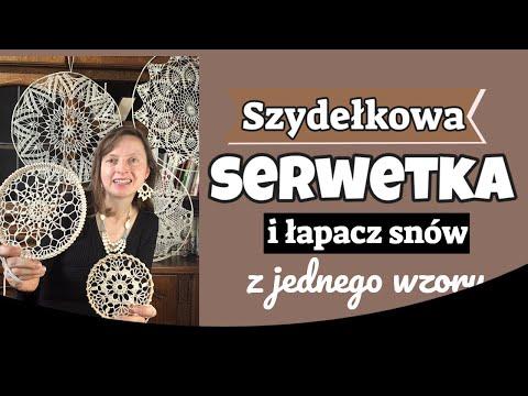 Szydełkowa serwetka i łapacz snów z jednego wzoru. Serwetka Justyna