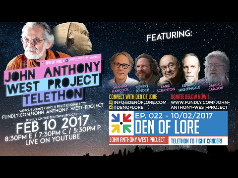 EP. 022 - John Anthony West Project Telethon w/ Graham Hancock, Randall Carlson, Robert Schoch