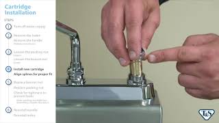 how to replace your t s faucet cartridge