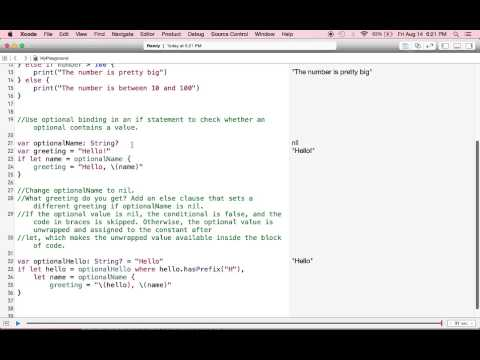 SWIFT Control Flow 9  I  Conditional statements  A   if