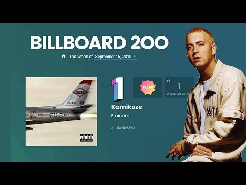 Eminem earns his ninth #1 on the Billboard 200 & 11 tracks from Kamikaze debut on the Hot 100 Mp3
