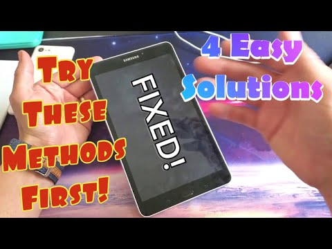 ALL Galaxy Tab A FIXED: Black Screen Of Death, Frozen, Unresponsive, Boot Loop (4 Solutions)