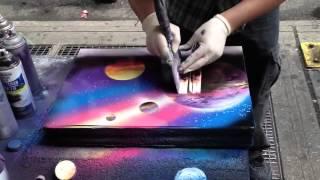 nghệ sĩ đường phố vẽ tranh quá ấn tượng