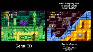 Sonic CD Version Comparison (Sonic Gems vs. Sega CD)