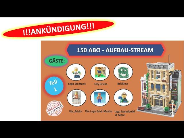 18:30 / 150 Abo LEGO Livestream Ankündigung - 10278 Police Station