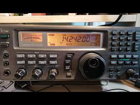 S51DX Slovenia received 14242 Khz USB Shortwave on Icom IC R-8500 receiver