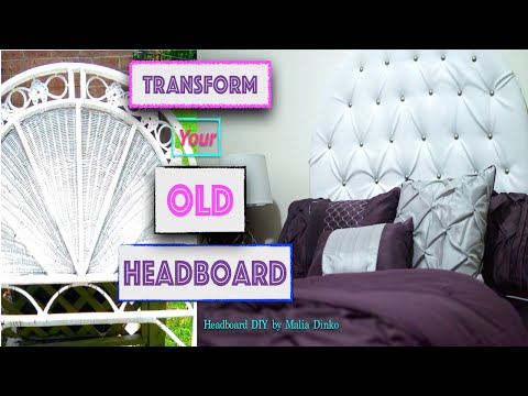 DIY| HOW TO MAKE A Tufted Headboard || NO SEW  (TRANSFORM Your Old Headboard)