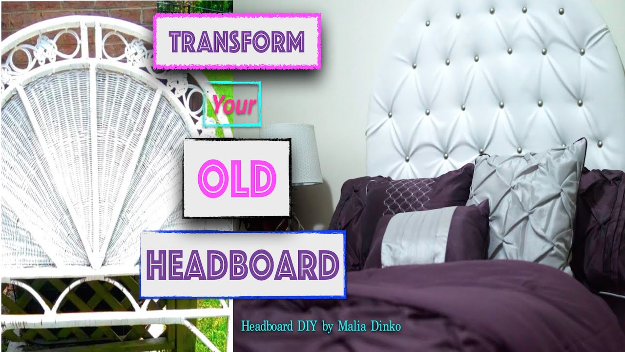 diy how to make a tufted headboard no sew transform your old headboard youtube. Black Bedroom Furniture Sets. Home Design Ideas