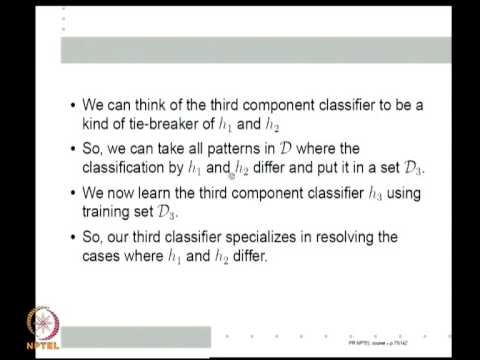 Mod-11 Lec-40 Bootstrap, Bagging and Boosting; Classifier Ensembles; AdaBoost