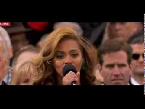 Beyonce Sings Whitney Houston's National Anthem at the Inauguration