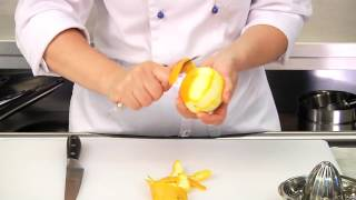 Making Orange Sauce For Duck Roast
