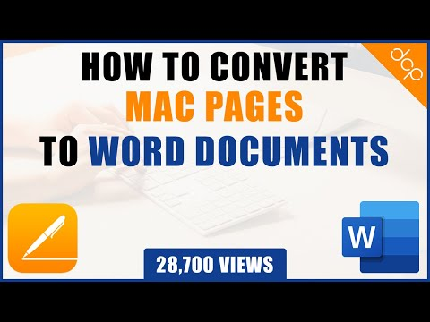 Convert Mac Pages To Microsoft Word Document Tutorial