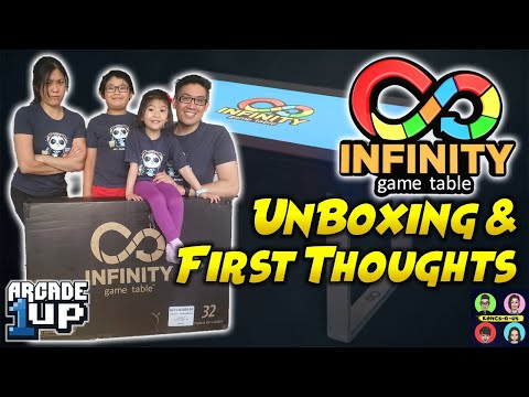 """Arcade1Up 32"""" Infinity Game Table - LIVE Unboxing & First Thoughts from Kongs-R-Us"""