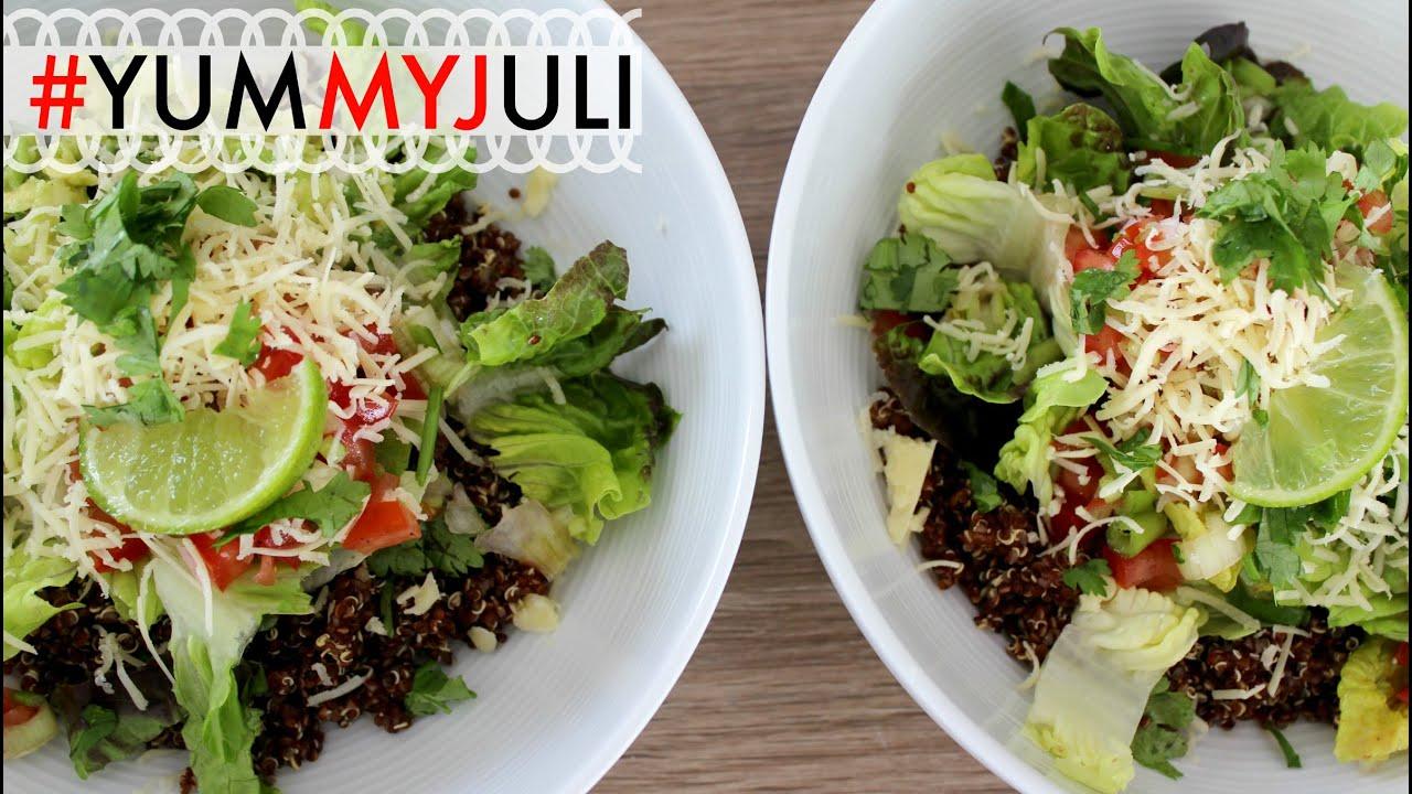 Sommerküche Leichte Rezepte : Quinoa taco bowl leichte sommerküche yummyjuli yummypilgrim