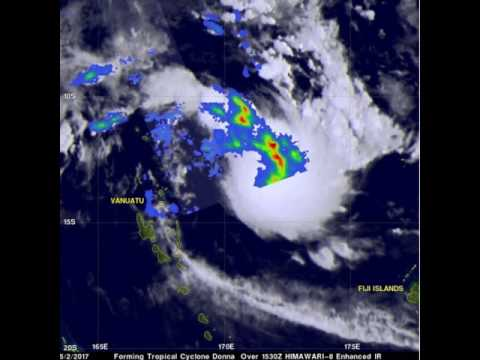 NASA Measures Rainfall Rates in Tropical Cyclone Donna