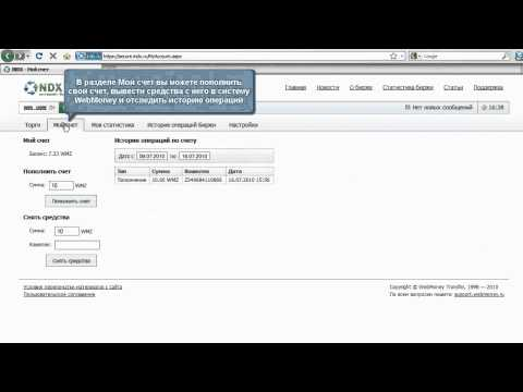 WebMoney: Интернет-биржа INDX