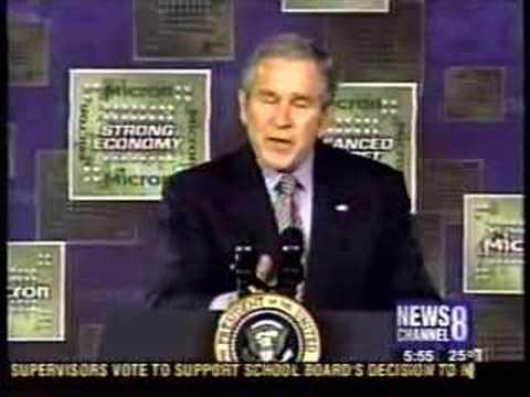 Bush visits Micron Technology