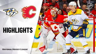 NHL Highlights | Predators @ Flames 2/6/20