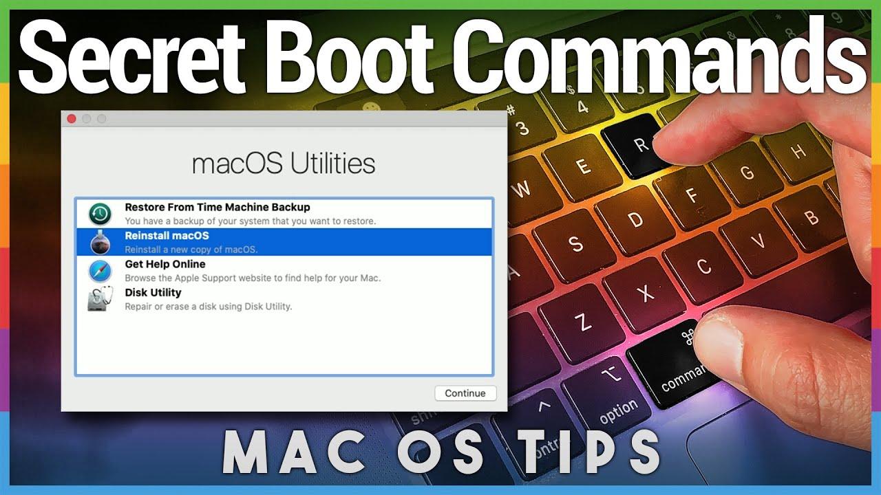Mac restart keyboard commands