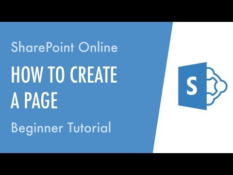 How to Create a Page in SharePoint Online - Beginner Tutorial