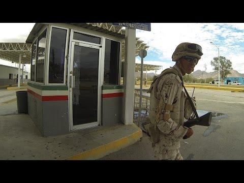 Inland Mexican Border Patrol Checkpoint questions Cameras, Passport & Registration, GP045476