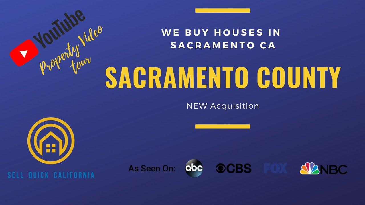 We Buy Houses In Sacramento California [Real Estate Investor Property Walk Through]