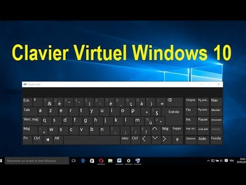 afficher le clavier virtuel windows 10 clavier visuel youtube. Black Bedroom Furniture Sets. Home Design Ideas
