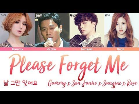 ROSE (BLACKPINK), Son Junho, Sungjae, Gummy - Please Forget Me (날 그만 잊어요) [han rom eng lyrics/가사]