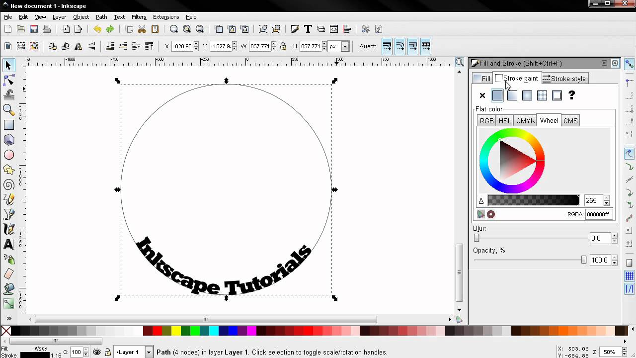 20 design tutorial how to put text on path tips and tricks inkscape 20