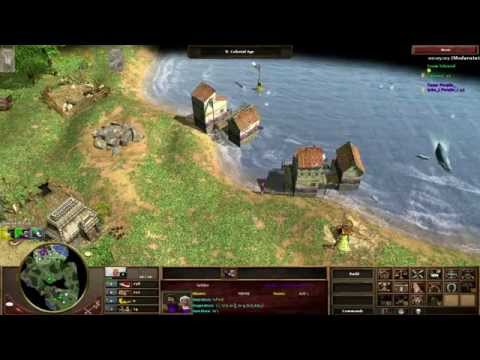[Sort of GGish] AOE3: Ports (me) vs British on Yucatan with Interjection