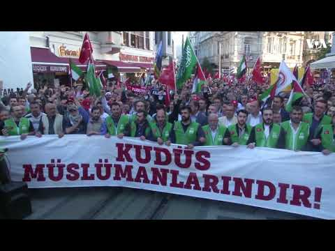 Protests in Istanbul, Turkey over US Embassy's Move