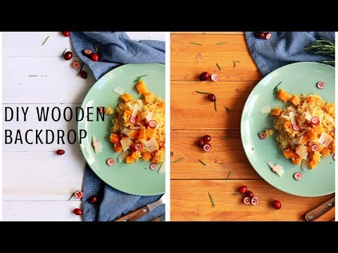 DIY TWO SIDED WOOD BACKDROP FOR FOOD PHOTOGRAPHY | INTHEKITCHENWITHELISA