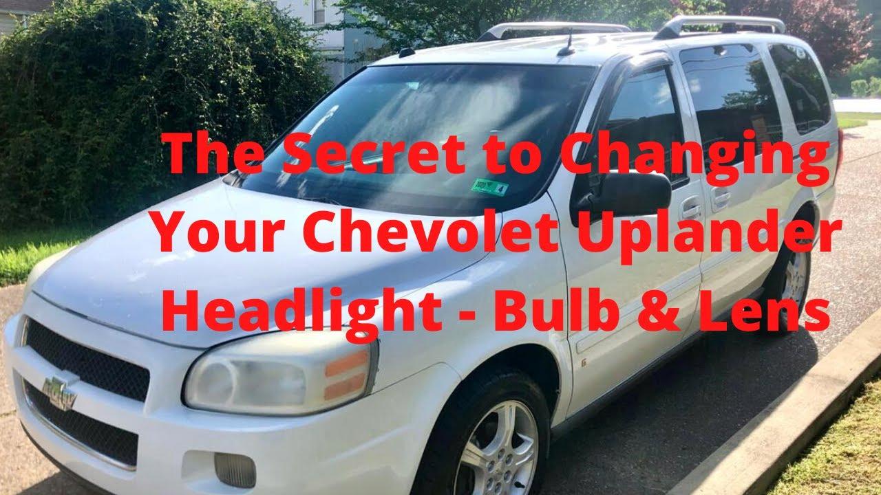 06 08 Chevy Uplander Headlight Change Youtube 55 Turn Signal Embly