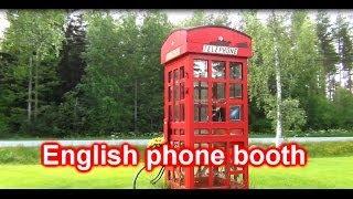 English telephone booth: Lappajärvi Ylipää Finland