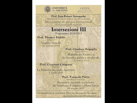 Pasquale Porro, Università Paris-Sorbonne: Necessità, Eternità, Contingenza