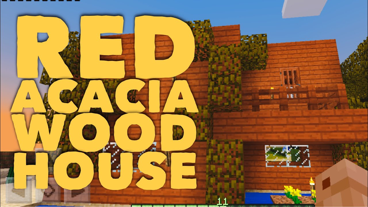 Drismicniz Red Acacia Wood House Minecraft Youtube