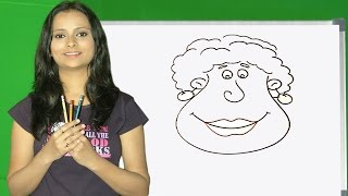 How to draw a Cartoon faces in Tamil | step by step drawing | Easy Cartoon faces drawing