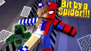 BIT BY A RADIOACTIVE SPIDER! w/Little Carly (Minecraft Roleplay).