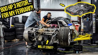 Download Trying To Start a Wrecked 800-HP Rotary Engine To Put In My Ferrari (PURISTS SHOULD NOT WATCH!) Mp3 and Videos