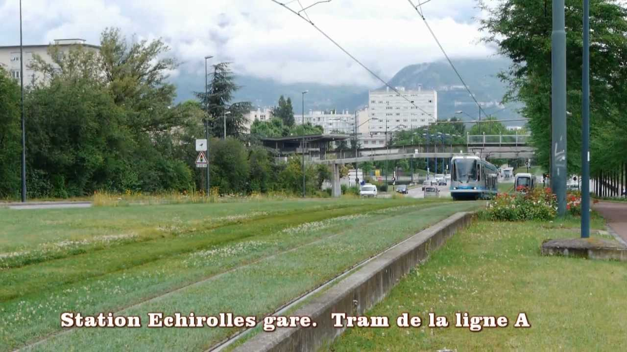 grenoble station tram a echirolles gare grand place youtube. Black Bedroom Furniture Sets. Home Design Ideas