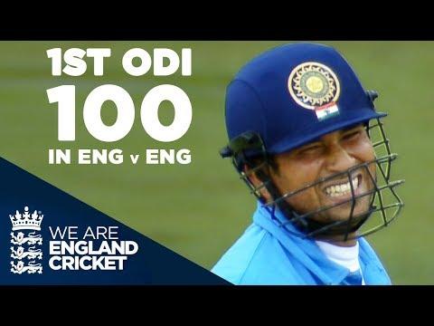 Sachin Tendulkar's 1st ODI Century In England Against England - Highlights