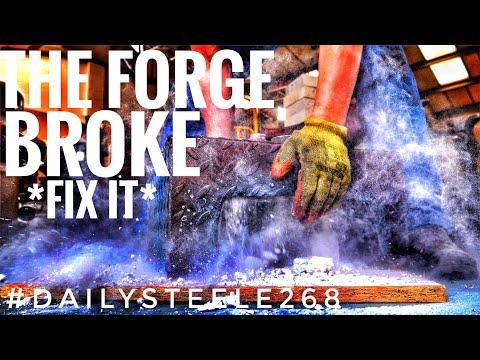 REPAIRING THE BIG FORGE!!!!