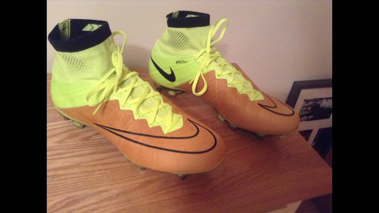 b29412010e62 Nike Mercurial Superfly Leather SG-Pro-Canvas/Black/Volt- Unboxing + On  Feet- knuckleballerz