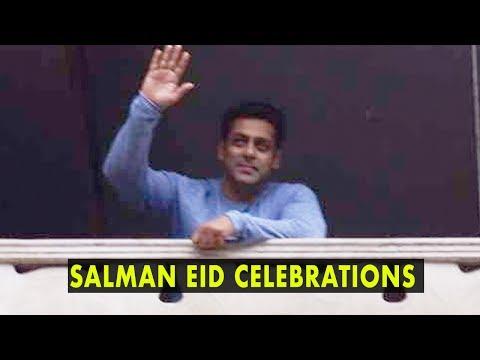 Salman Khan, Shah Rukh With AbRam Celebrate Eid With Fans