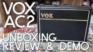 Vox AC2 RhythmVox Unboxing, Review & DEMO - Mini Guitar Amp Review